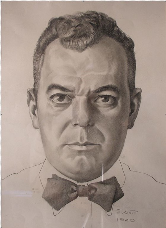 Artist: William Elliott, Self Portrait, 1940